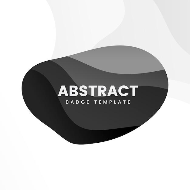 Modèle de badge abstrait en noir Vecteur gratuit