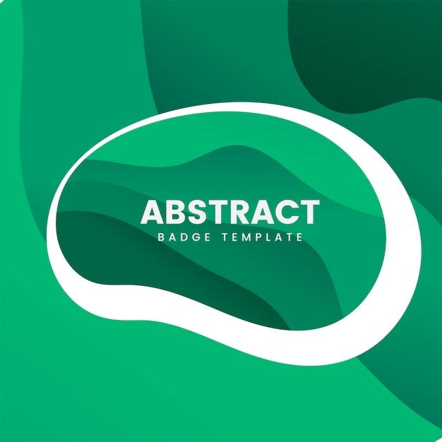 Modèle de badge abstrait en vert Vecteur gratuit