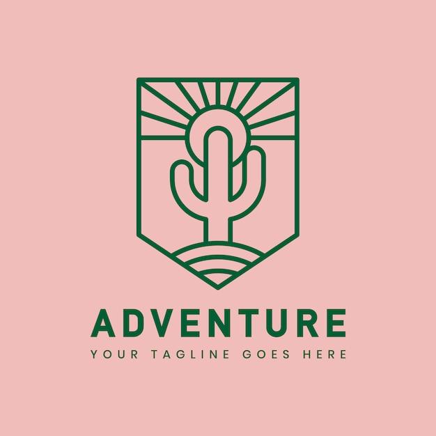 Modèle De Badge Logo Aventure En Plein Air Vecteur gratuit