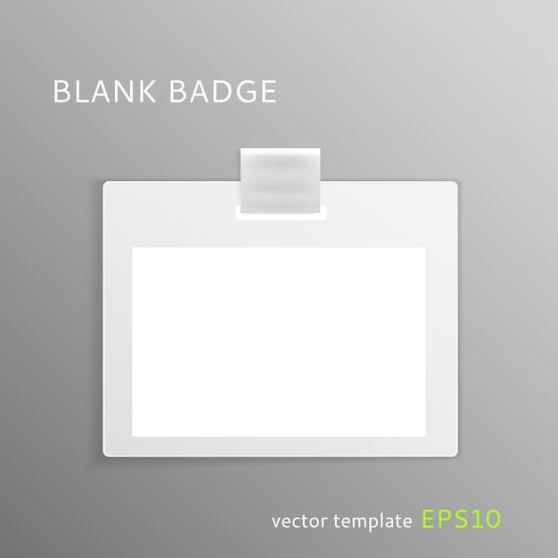 Modèle De Badge Vierge Vecteur Premium