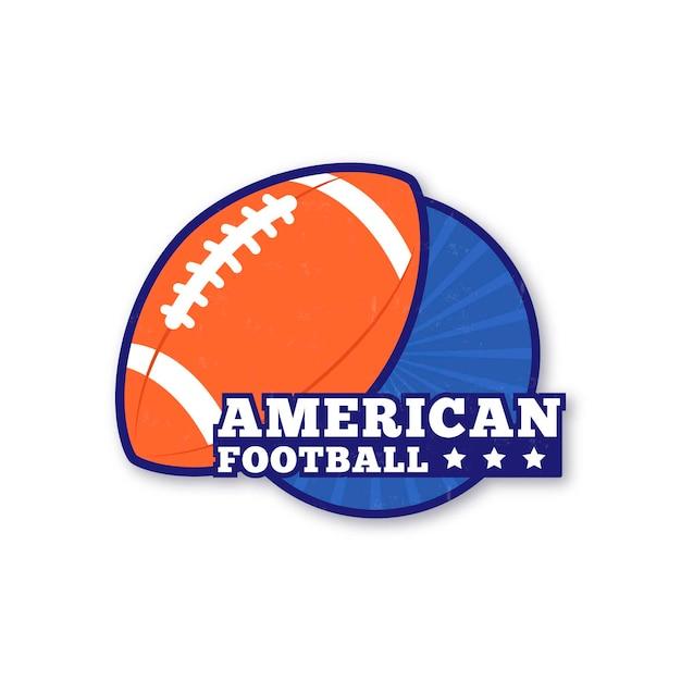 Modèle De Ballon De Rugby De Football Américain Vecteur Premium