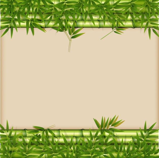 Un modèle en bambou vert Vecteur Premium