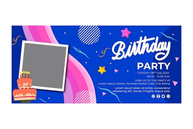 Modèle De Bannière D'anniversaire Vecteur gratuit