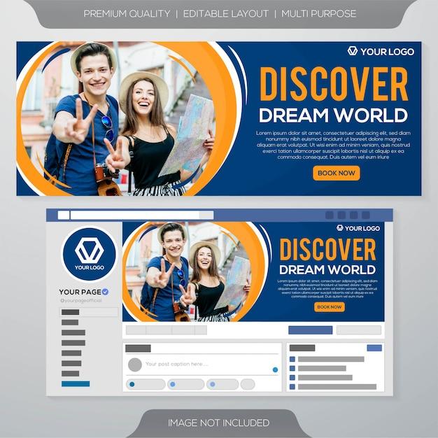 Modèle de bannière d'annonces de médias sociaux Vecteur Premium