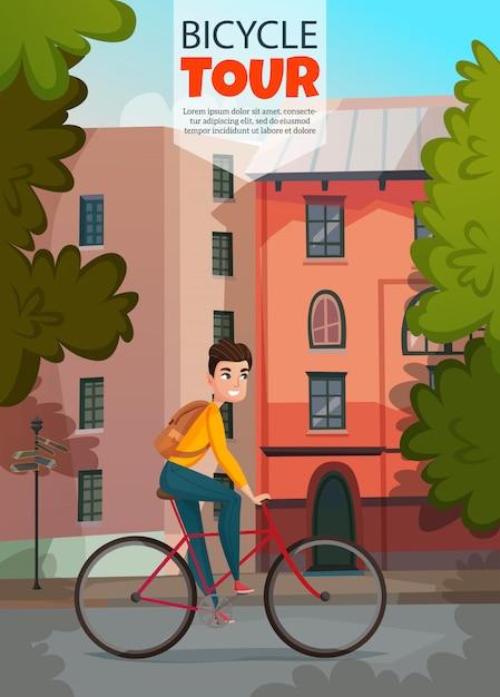 Modèle de bannière de balade à vélo Vecteur gratuit