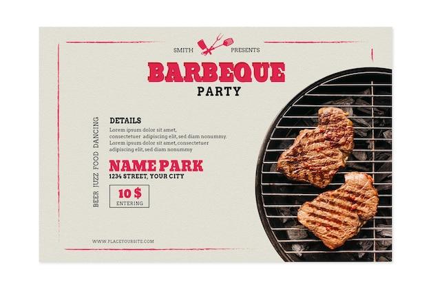 Modèle De Bannière Barbecue Pique-nique Et Grill Vecteur Premium