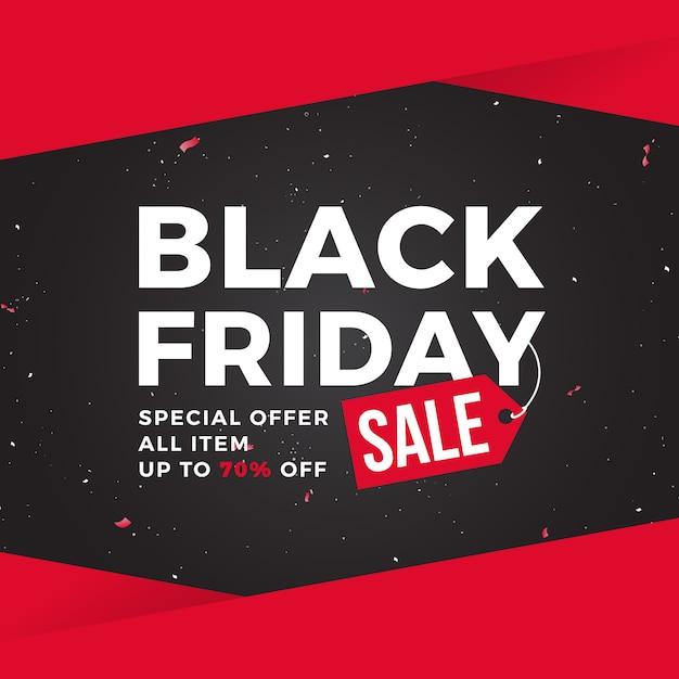 Modèle de bannière black friday sale Vecteur Premium