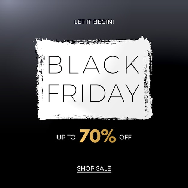 Modèle De Bannière Black Friday Vecteur Premium
