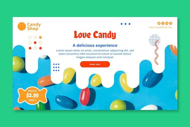 Modèle De Bannière De Bonbons D'amour Vecteur gratuit