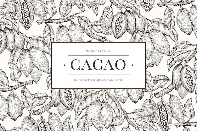 Modèle de bannière de cacao Vecteur Premium
