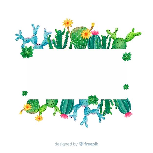 Modèle de bannière de cactus Vecteur gratuit
