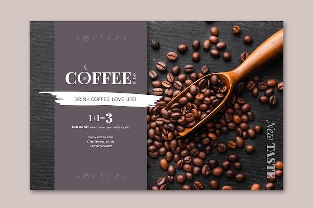 Modèle De Bannière De Café Vecteur gratuit
