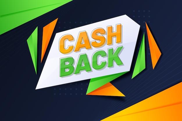 Modèle De Bannière De Cashback Créatif Vecteur gratuit