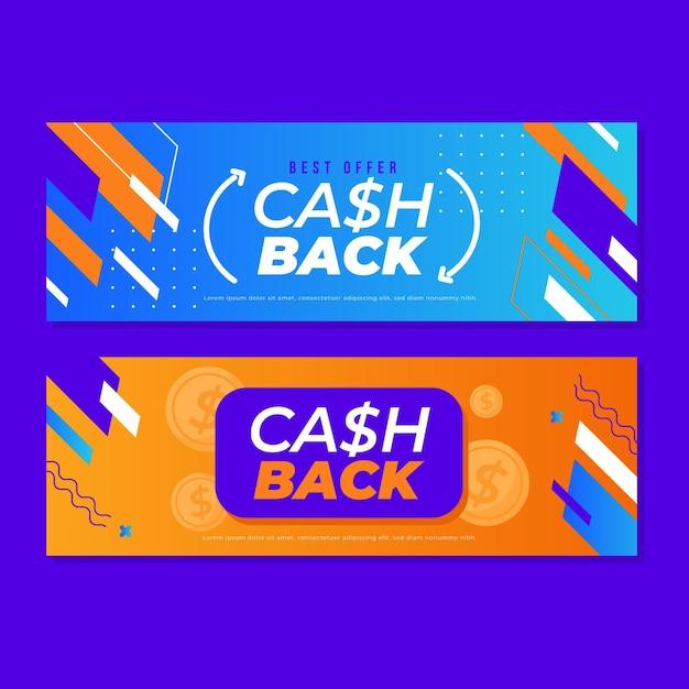 Modèle De Bannière De Cashback Vecteur gratuit