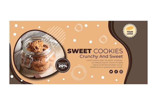 Modèle De Bannière De Cookies Vecteur gratuit