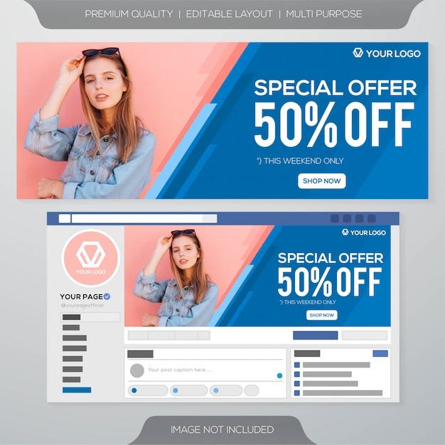 Modèle De Bannière De Couverture Facebook Vecteur Premium