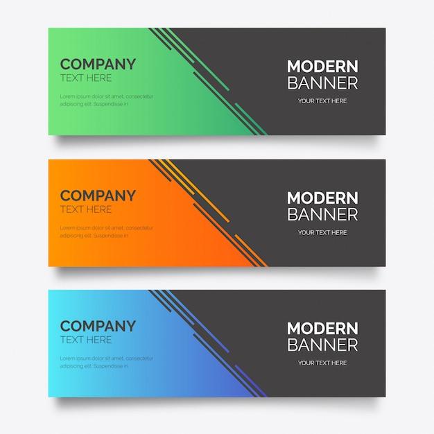 Modèle de bannière d'entreprise moderne Vecteur gratuit