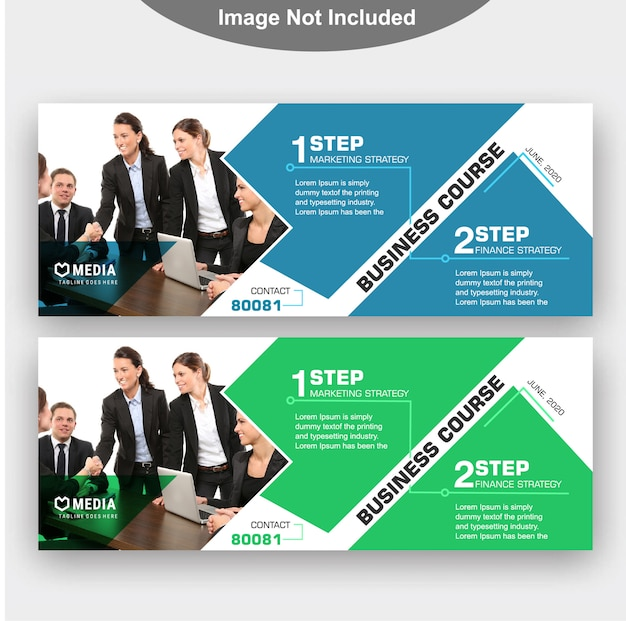 Modèle de bannière d'entreprise Vecteur Premium