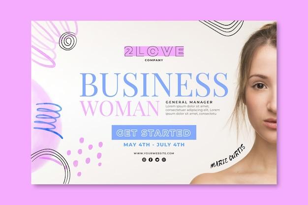 Modèle De Bannière De Femme D'affaires Vecteur gratuit