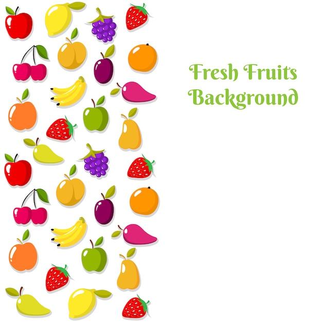 Modèle de bannière ou flyer de fruits vector Vecteur Premium