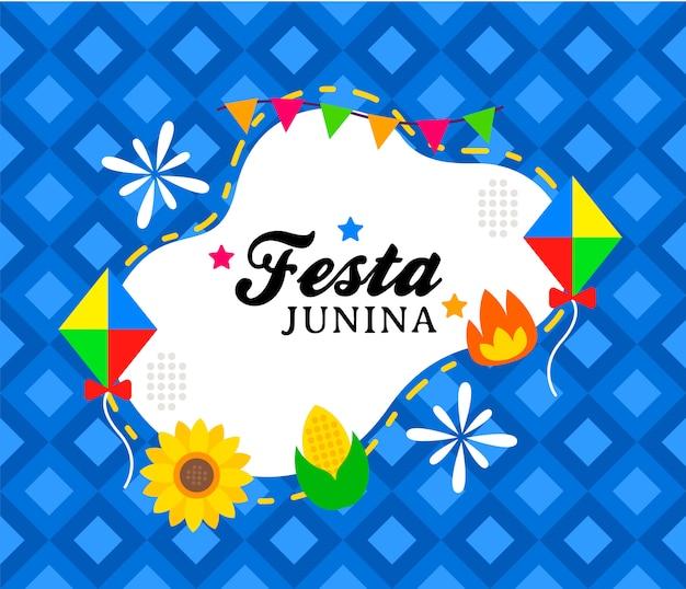 Modèle de bannière happy festa junina Vecteur Premium