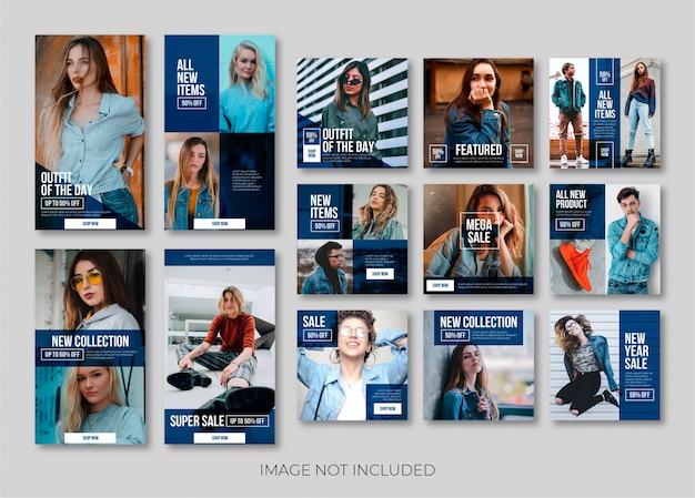 Modèle De Bannière Ou Histoire Instagram De Mode Vecteur Premium