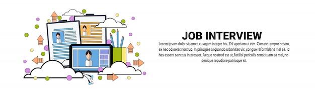 Modèle de bannière horizontale pour le concept d'embauche de recrutement d'embauche Vecteur Premium