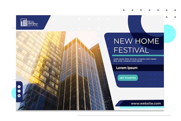 Modèle De Bannière Immobilière Vecteur gratuit