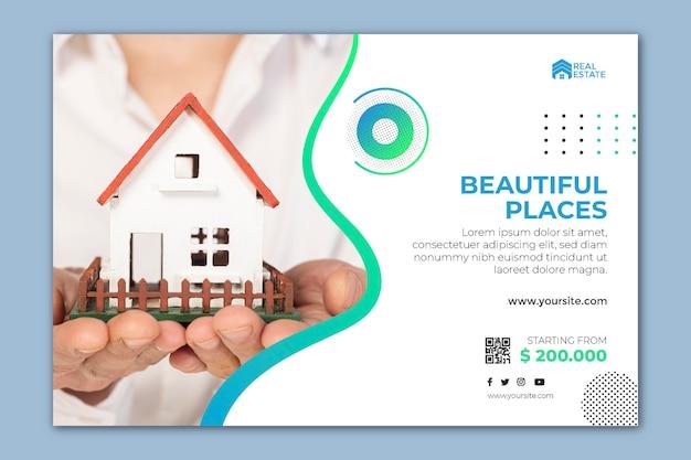 Modèle De Bannière Immobilière Vecteur Premium
