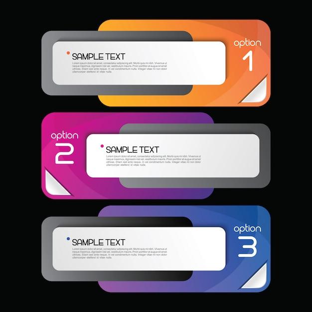 Modèle de bannière infographie coloré Vecteur Premium