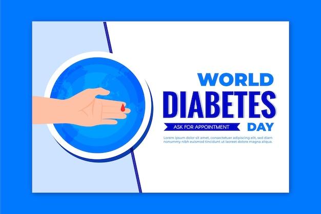 Modèle De Bannière De La Journée Mondiale Du Diabète Vecteur gratuit