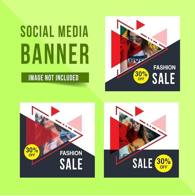 Modèle de bannière de médias sociaux Vecteur Premium