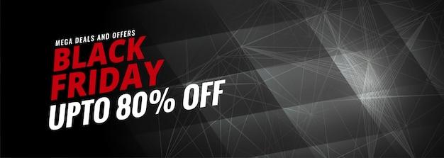 Modèle de bannière noir vendredi vente discount Vecteur gratuit