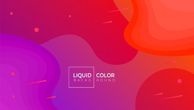 Modèle de bannière d'ondes liquides en plastique. Vecteur Premium