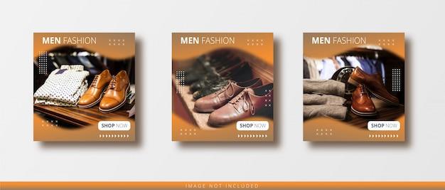 Modèle De Bannière De Post Instagram De Vente De Mode Moderne Et De Médias Sociaux Vecteur Premium
