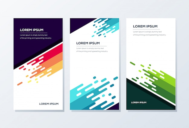 Modèle de bannière. présentation et brochure Vecteur Premium