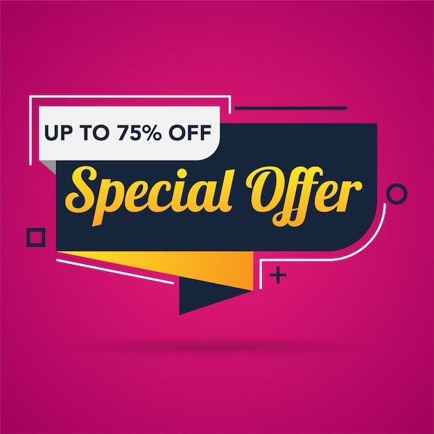 Modèle de bannière de promotion offre spéciale vente Vecteur Premium