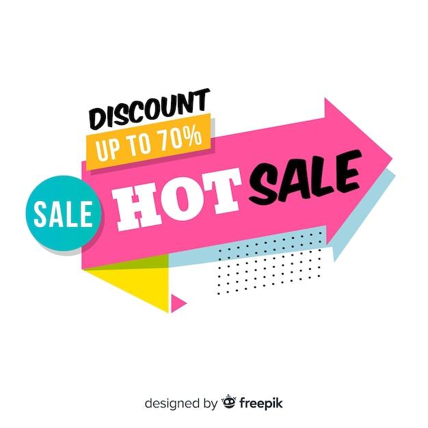 Modèle de bannière de promotion vente abstraite Vecteur gratuit
