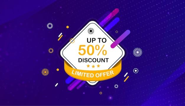 Modèle de bannière de promotion vente abstraite Vecteur Premium