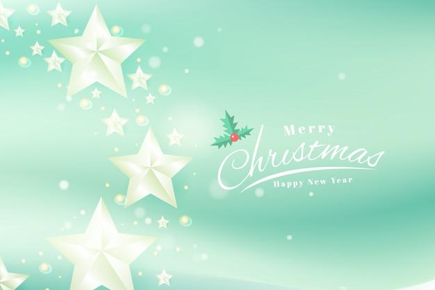Modèle De Bannière De Typographie Joyeux Noël Et Bonne Année Cartes De Voeux Vecteur Premium