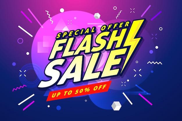 Modèle de bannière de vente flash. Vecteur Premium