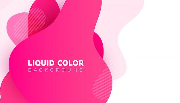 Modèle de bannière vente plastique dégradé liquide ondes. vecteur de conception pour la conception pour mobile Vecteur Premium