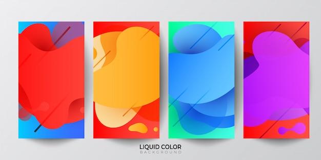 Modèle de bannière de vente en plastique vagues dégradé liquide Vecteur Premium