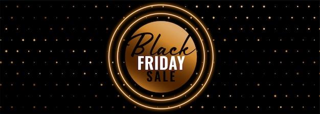 Modèle de bannière de vente vendredi noir doré Vecteur gratuit
