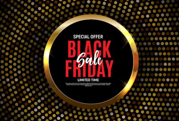 Modèle de bannière de vente vendredi noir. illustration Vecteur Premium
