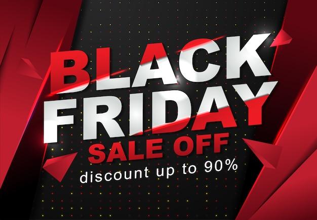 Modèle de bannière de vente vendredi noir Vecteur Premium