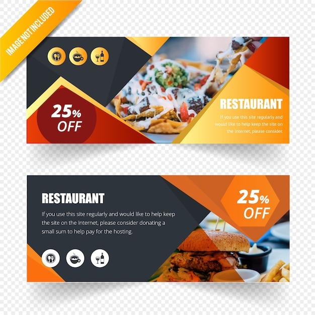 Modèle de bannière web abstraite Vecteur Premium