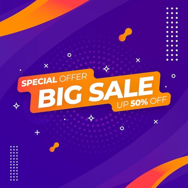 Modèle De Bannière Web Big Sale Vecteur Premium