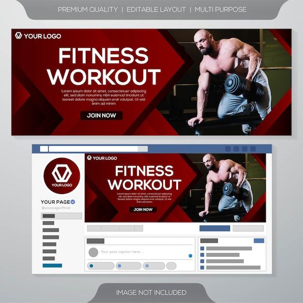 Modèle De Bannière Web Gym Club Vecteur Premium