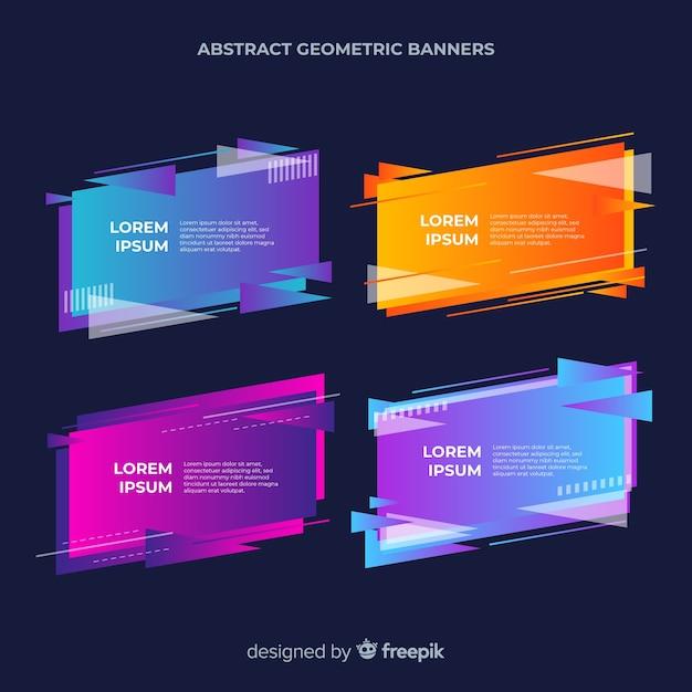 Modèle De Bannières Géométriques Abstraites Vecteur gratuit